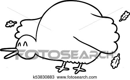 A Cartoon Of Kiwi Bird Flapping Wings On White Background. Royalty Free  Cliparts, Vectors, And Stock Illustration. Image 94843396.