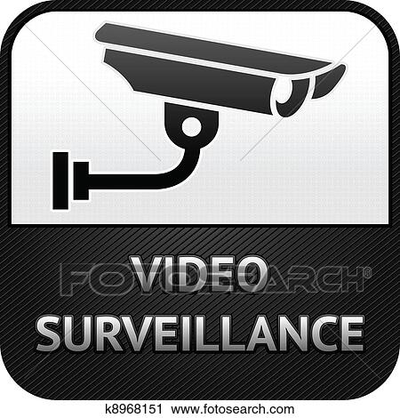 Clipart Of Cctv Symbol Video Surveillance Sign Security Camera