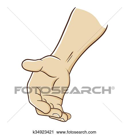 Hand Reaching Out To Offer Help Clipart k34923421
