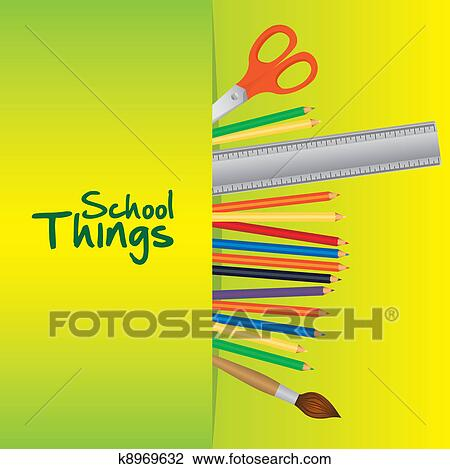 School Thing Drawing Clipart School Things