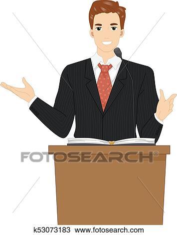 Clipart   Man Pastor Preach Illustration. Fotosearch   Search Clip Art,  Illustration Murals,