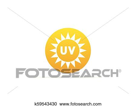 Graphic environment in nature, UV ultraviolet radiation — Stock Vector ©  Lcosmo #63303191