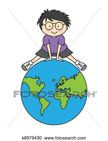 Clipart of boy with world map k8979430 search clip art clipart boy with world map fotosearch search clip art illustration murals gumiabroncs Image collections