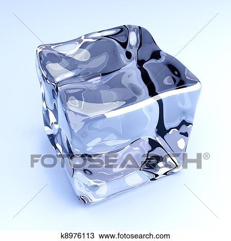 Cubos Gelo Desenho K8976113 Fotosearch
