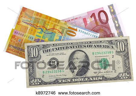 Euro Dollar Franc Currency