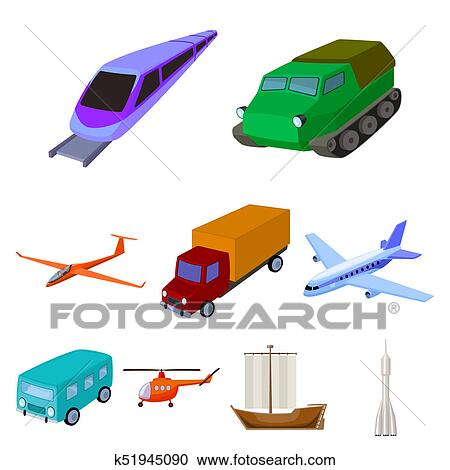Stock Illustrations Of Set Of Pictures About Types Of Transport