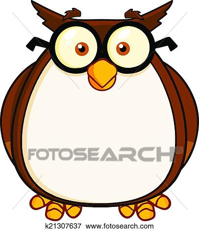 Clip Art Of Wise Owl Teacher Cartoon Character K21307637
