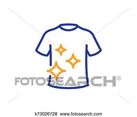 clean t shirt line icon laundry shirt sign clothing cleaner vector clip art k73026728 fotosearch https www fotosearch com csp898 k73026728