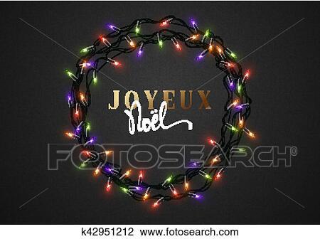 Clipart Joyeux Noel Francais Inscription Joyeux Noel