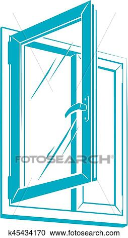 clipart of vector plastic window icon k45434170 search clip art rh fotosearch com window clip art free windows clip art pictures