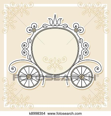 Clipart of wedding invitation design k8998354 search clip art editable and scalable wedding invitation design with pumpkin carriage stopboris Choice Image