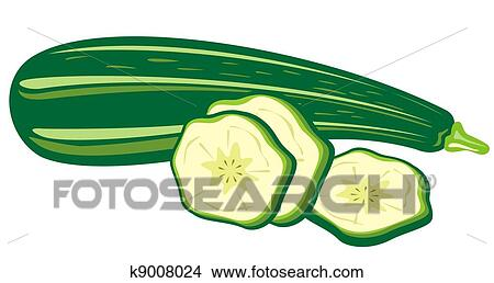 drawings of zucchini k9008024 search clip art illustrations wall rh fotosearch com zucchini pictures clip art zucchini bread clip art