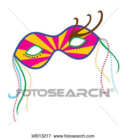 Stock Illustration Fasching Maske 7 K9013217 Suche Clipart