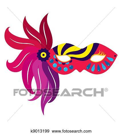 Stock Illustration Fasching Schablone 5 K9013199 Suche Clipart