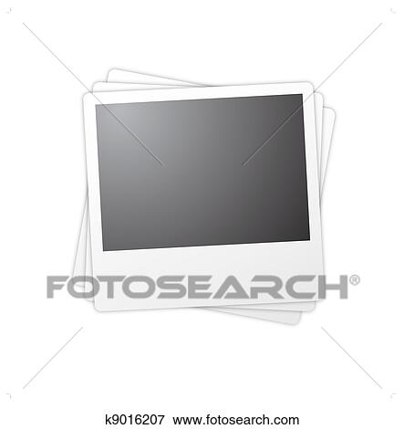 Clip Art of Isolated polaroid frames k9016207 - Search Clipart ...