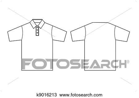 Clipart - polo, kleidung, schablone, aufreißen k9016213 - Suche Clip ...