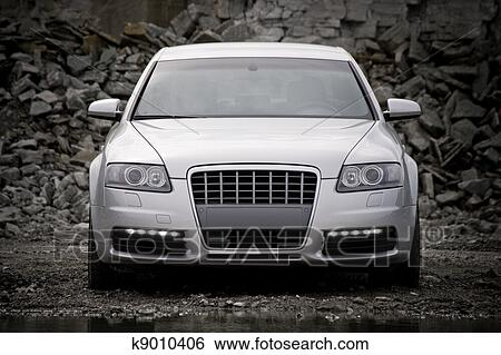 Stock Images Of Top Front View Of A Luxury Car K9010406 Search