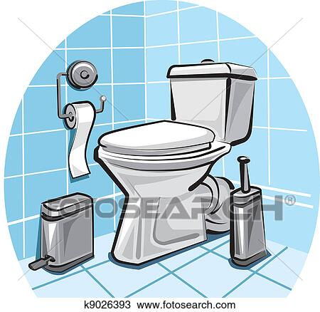 Toilet Wc Clipart K9026393 Fotosearch