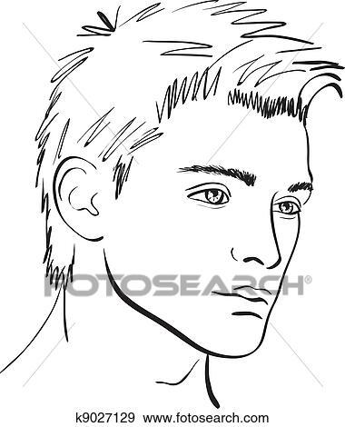 vector face man sketch design element clip art k9027129 Art Facial Feature clip art vector face man sketch design element fotosearch search clipart