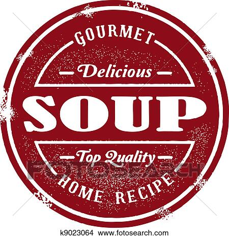 Clipart Of Vintage Soup Stamp K9023064