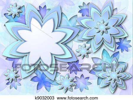 Drawing Background Abstract Lotus Flowers Fotosearch Search Clipart Ilration Fine Art