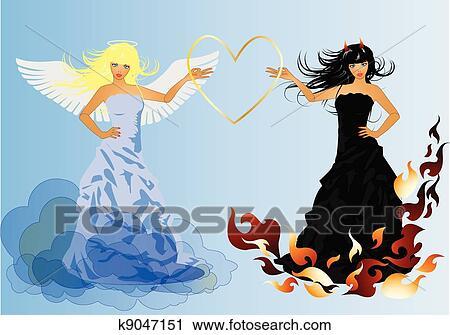 クリップアート切り張りイラスト絵画集 天使 そして 悪魔