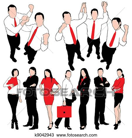 clipart of business people silhouettes set iso k9042943 search rh fotosearch com  business people clip art free
