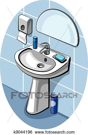Waschbecken clipart  Clip Art - waschbecken k9044196 - Suche Clipart, Poster ...