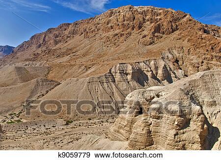 Immagini Natalizie Qumran.Caverne Di Qumran Israele Archivio Fotografico