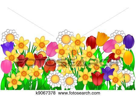 春の花 イラスト イラスト K9067378 Fotosearch