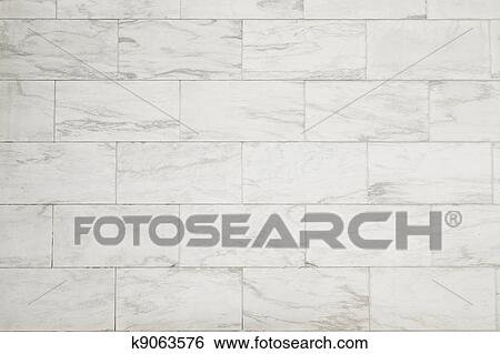 Stock Images Of White Marble Block Wall Texture Background K9063576