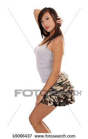 Asian Girl In Short Skirt