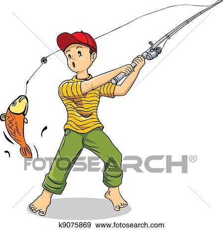 صيد السمك Clip Art K9075869 Fotosearch