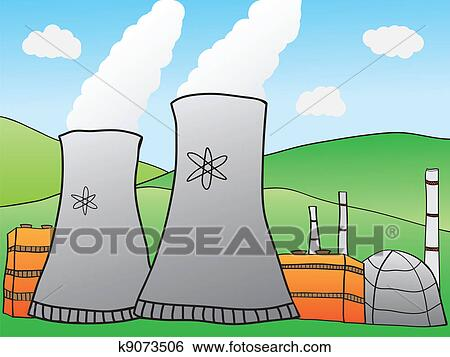 clip art of nuclear power plant k9073506 - search clipart