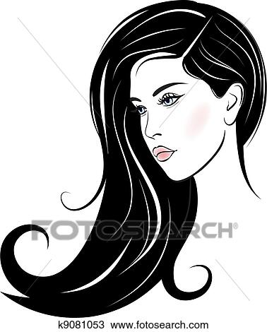 clipart of beautiful woman face k9081053 search clip art rh fotosearch com beautiful clip on earrings vintage beautiful clipart images