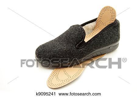 5cb5e364b3d Γκρί, άντρεs, παπούτσια, από, αισθάνθηκα, και, αναμμένος αγαθός, hintergund
