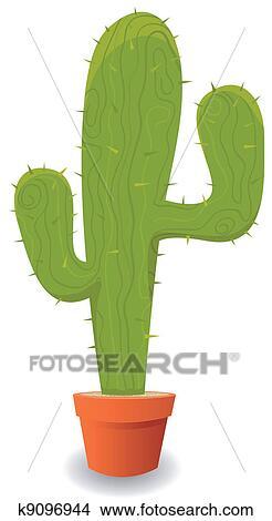 漫画 メキシコ人 サボテン クリップアート切り張りイラスト絵画