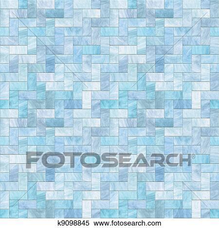 Stock Illustration Blauer Stein Boden Seamless Muster K9098845