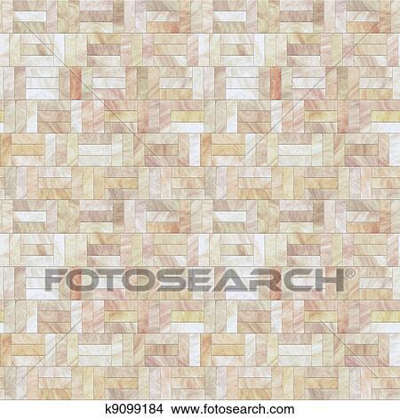 Zeichnungen Pfirsich Stein Boden Seamless Muster K9099184