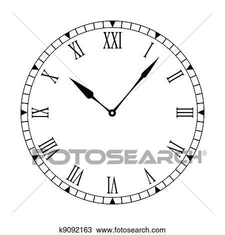 Roman Clean Clock Face Clipart K9092163 Fotosearch