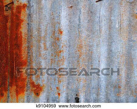 Rusted corrugated metal fence Aluminum Sheet Metal Rusty Corrugated Iron Metal Fence Close Up Zinc Wall Vxonenaccom Stock Illustration Of Rusty Corrugated Iron Metal Fence K9104959