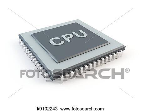 Computer CPU Drawing | k9102243 | Fotosearch