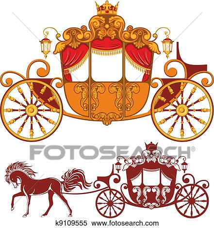 clipart of royal carriage k9109555 search clip art illustration rh fotosearch com cartridge clip art carriage clipart free