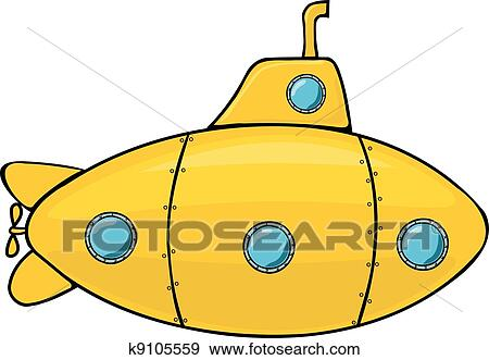 clip art of yellow submarine k9105559 search clipart illustration rh fotosearch com submarine clipart pictures submarine clipart png