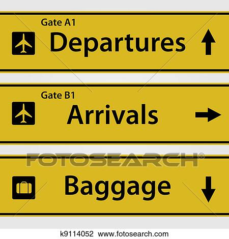 Clip Art Of Airport Signs K9114052