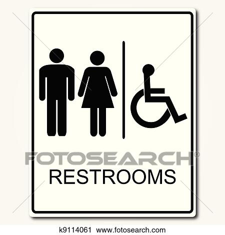 clipart of restroom sign illustration k9114061 search clip art rh fotosearch com restroom clip art free restroom pictures clip art