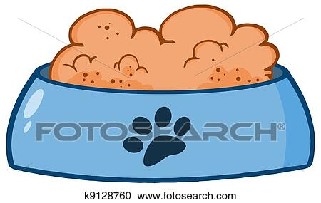 clipart of dog bowl with food k9128760 search clip art rh fotosearch com dog bone in bowl clipart dog bowl clipart free