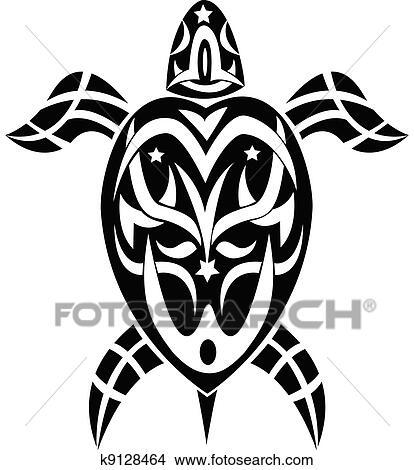Clipart Tribal Tatouage Tortue K9128464 Recherchez Des Clip