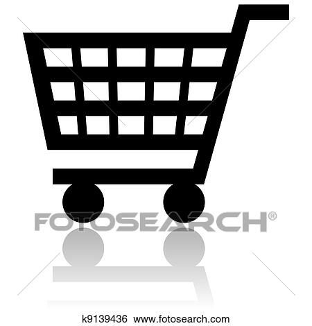 stock illustration of shopping cart icon k9139436 search clip art