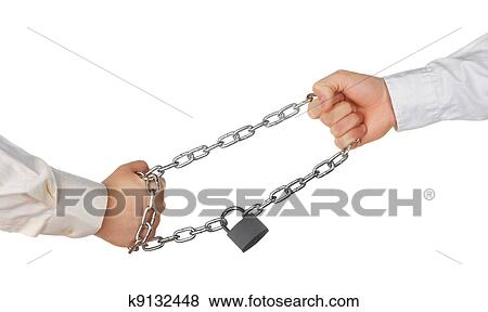 Pulling The Chain Stunning Pictures Of Two Hands Pulling A Locked Chain K60 Search Stock